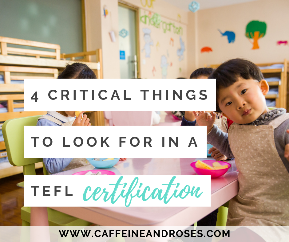 4 Critical Things To Look For In A Tefl Certification Caffeine And